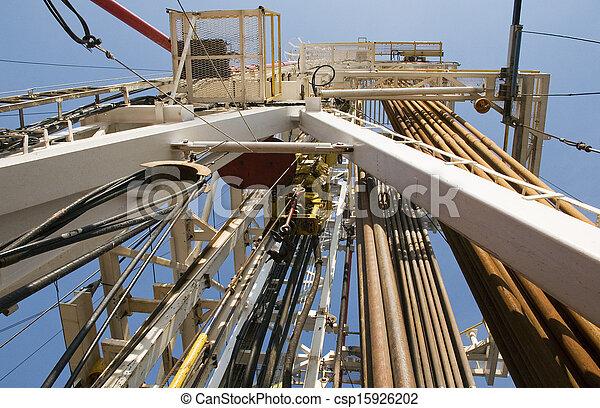 guarneça, canos, óleo, torre - csp15926202
