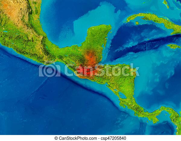 Guatemala on physical map - csp47205840