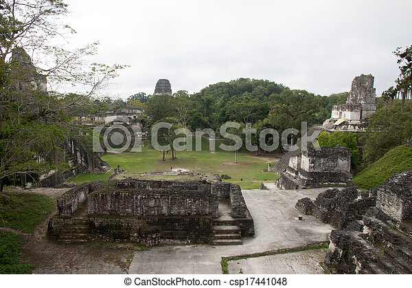 guatemala, tikal - csp17441048