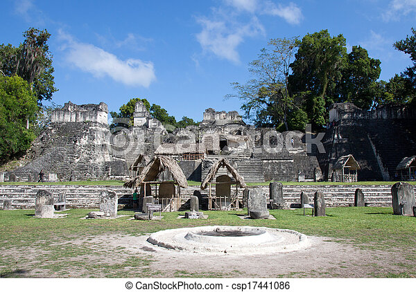 guatemala, tikal - csp17441086
