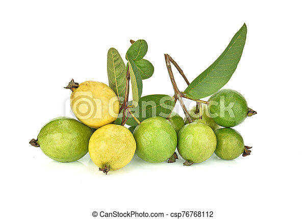 Guava isolated on white background. - csp76768112