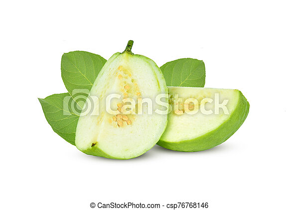 Guava isolated on white background. - csp76768146