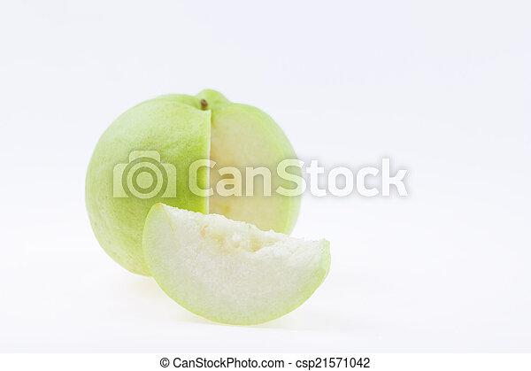 guava on white background - csp21571042