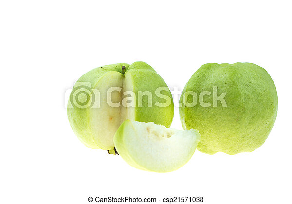 guava on white background - csp21571038