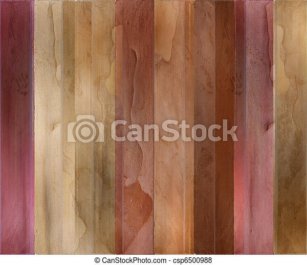Guava wood and watercolor textured striped background - csp6500988