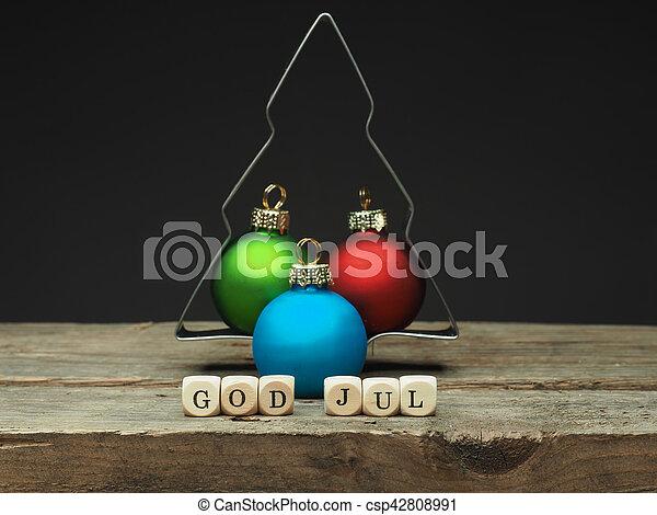 gud, cvhristmas, jul, merry, nordisk - csp42808991