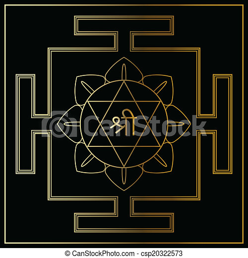 gudinde, lakshmi., yantra - csp20322573