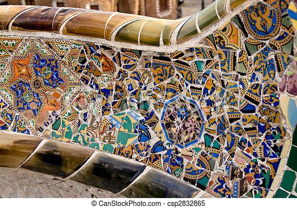 Parc guell de gaudi, mercat de la boqueria, sagrada danza nacional, barcelona, catalonia, España, Europa - csp2832865