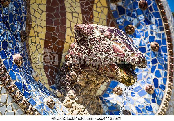 Architekt Barcelona guell park gaudi barcelona architekt spain stockfoto bilder