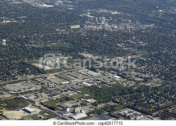 Guelph, Ontario aerial - csp42517715
