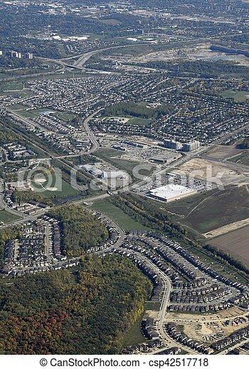Guelph, Ontario aerial - csp42517718