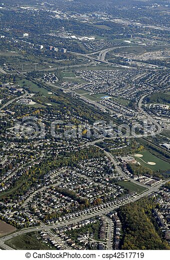 Guelph, Ontario aerial - csp42517719