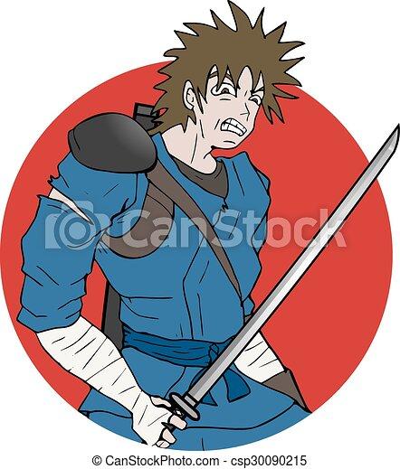 Dibujo de guerrero - csp30090215