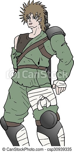 Dibujo de guerrero - csp30939335