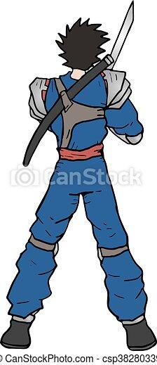 Dibujo de guerrero - csp38280339