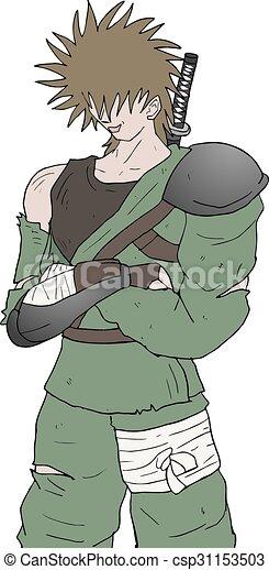 Ilustración de guerreros - csp31153503
