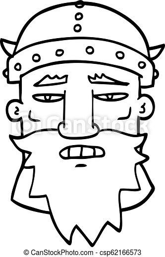 Dibujo de dibujos animados guerrero enojado - csp62166573