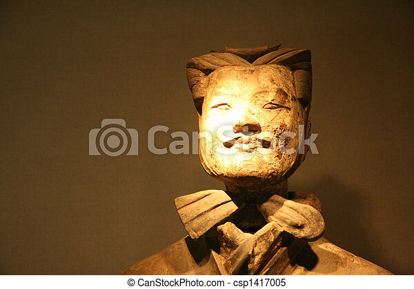 guerrero, terracota, xian - csp1417005