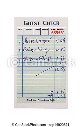 Guest Check  - csp14920671