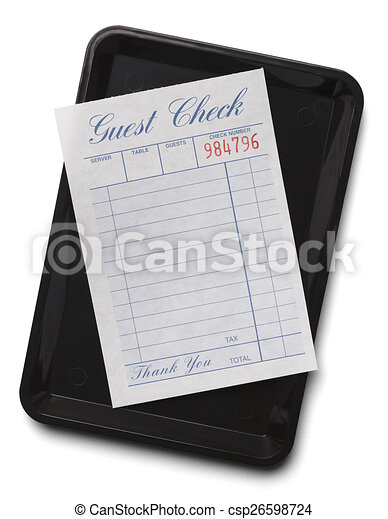 Guest Check With Tray - csp26598724