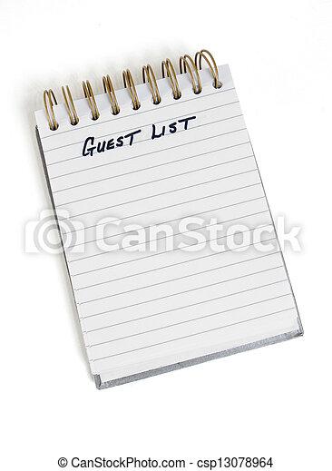 Guest List - csp13078964
