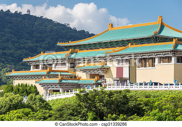 gugong, nemzeti museum, taipei - csp31339286