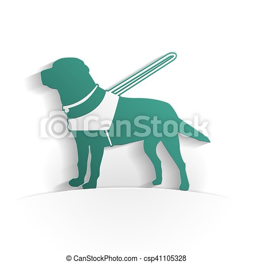 Guide dog icon paper - csp41105328