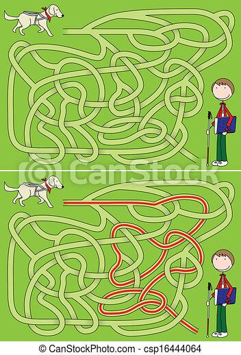 Guide dog maze - csp16444064