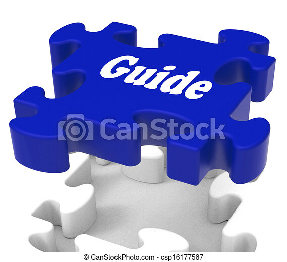 Guide Puzzle Showing Expertise Consulting Instructions Guideline And