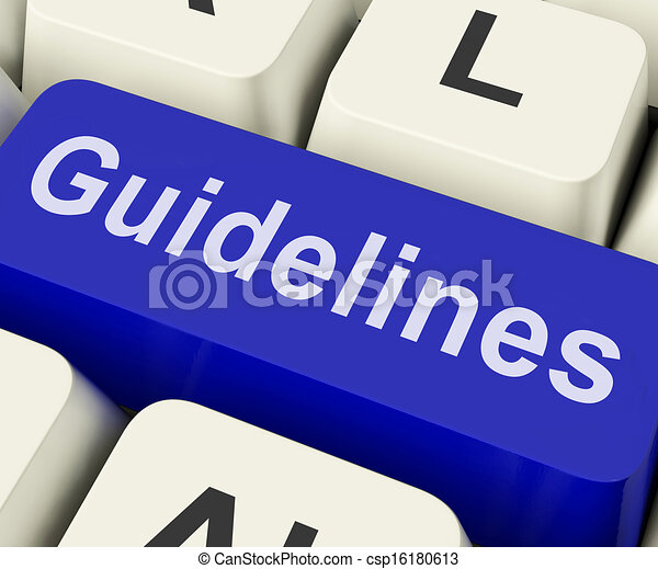 Guidelines Key Shows Guidance Rules Or Policy - csp16180613