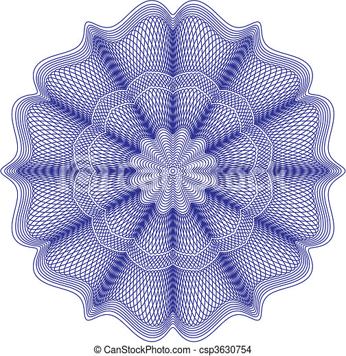 guilloche rosette vector pattern background for currency