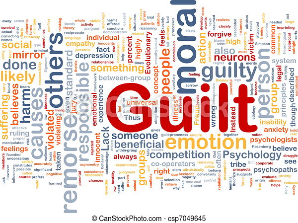 Guilt background concept - csp7049645