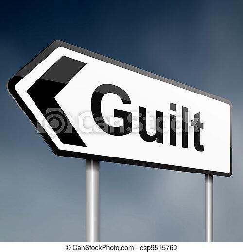 Guilt concept. - csp9515760