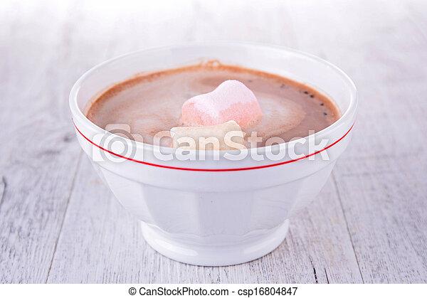 guimauves, chocolat chaud - csp16804847