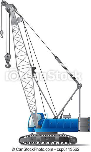 guindaste, hidráulico, crawler - csp6113562