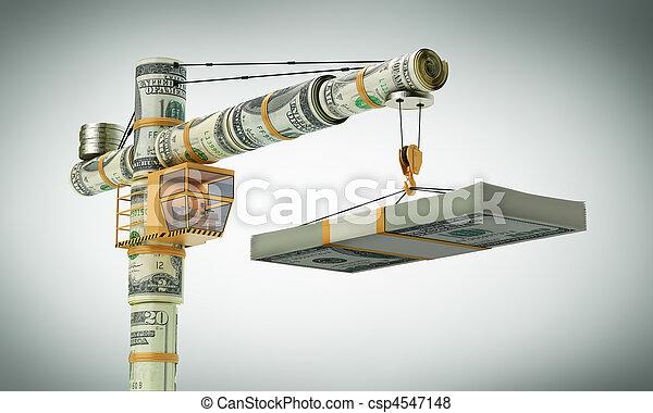 guindaste, monetário - csp4547148