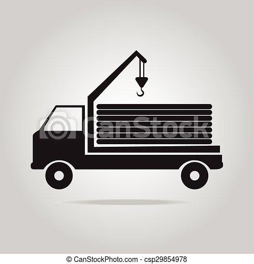 guindaste, vetorial, caminhão, ilustração - csp29854978