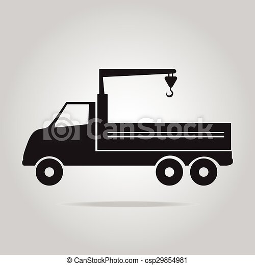 guindaste, vetorial, caminhão, ilustração - csp29854981