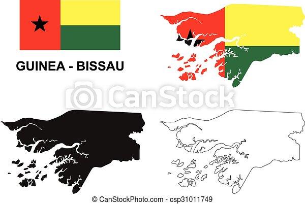 Guineabissau map vector guineabissau flag vector eps vector
