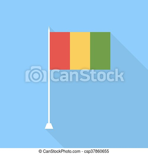 Guinea Flag. Vector illustration . - csp37860655