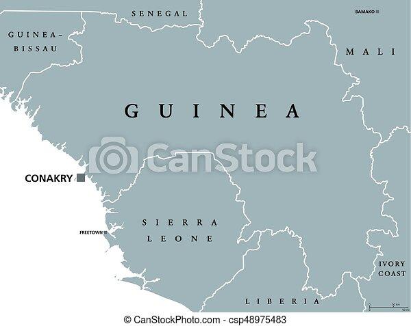 Afrika Karta Guinea.Guinea Politisk Karta Formerly Labeling Guinea Politisk