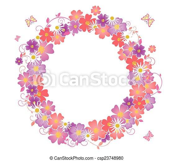 Una corona de flores - csp23748980