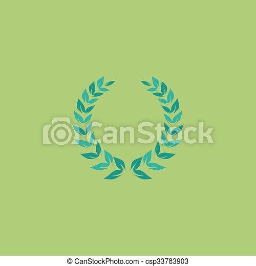 Laurel corona de icono - csp33783903
