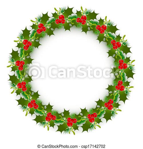 La corona de Navidad - csp17142702