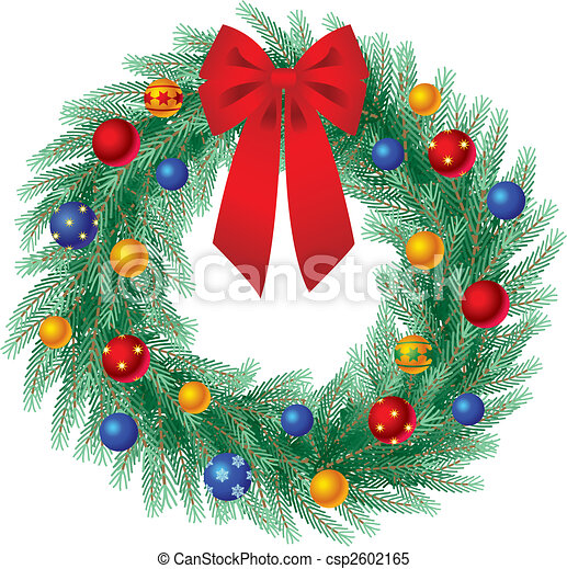 La corona de Navidad - csp2602165