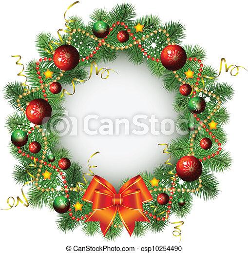 La corona de Navidad - csp10254490