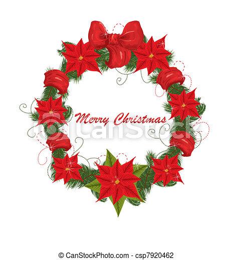 La corona de Navidad - csp7920462