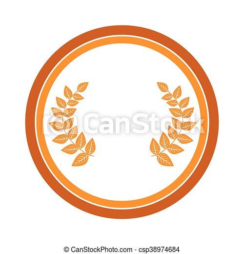 El icono de la corona de oro - csp38974684