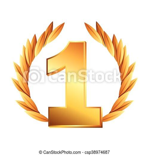 El icono de la corona de oro - csp38974687