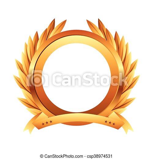El icono de la corona de oro - csp38974531